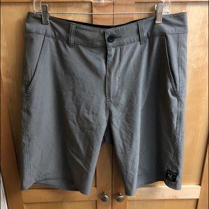 Vanphibian Gray stripped Board shorts